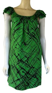 Ali Ro short dress Green Emerald Silk Trapeze Shift Pockets Flutter Sleeves on Tradesy