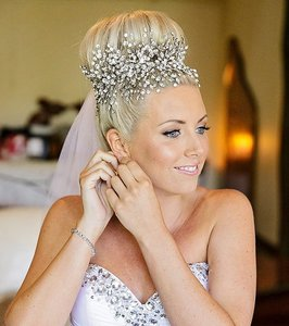 Bridal Hair Vine Headpiece With Swarovski Crystals