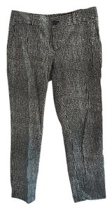 Banana Republic Straight Pants Black/White