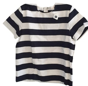 Gap T Shirt Navy/White