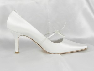 Filippa Scott Rosie Ivory Ribbon Tie Wedding Shoes