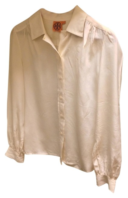 Item - Cream Off-white Button-down Top Size 2 (XS)