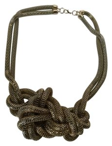 H&M Gold knot necklace