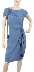 Alberta Ferretti Drawstring Ruched Drape Draped Dress