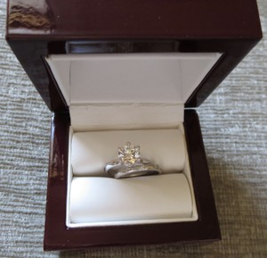 Tiffany Quality Diamond Platinum Wedding Band Sets