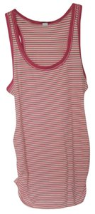 Old Navy NEW Women's Maternity Cotton Blend Pink/White Stripe Medium New Tank Top