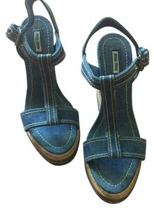 Miu Miu Denim Wedges