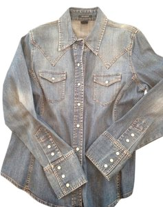 Gap Button Down Shirt Denim faded