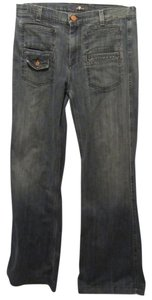 7 For All Mankind Super Flare Pants blue denim