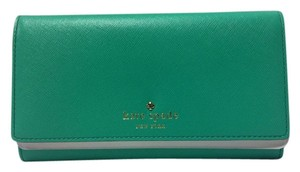 Kate Spade New Kate Spade New York Cherry Lane Amherst Bright Beryl Leather Wallet $198