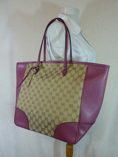 Gucci Tote in Beige/Ebony/Dusty Rose