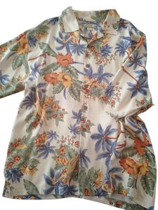 Tommy Bahama Button Down Shirt Multi color