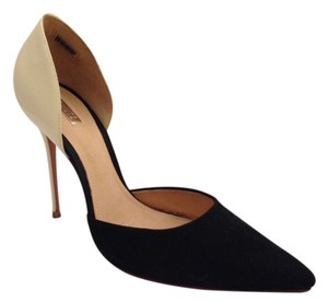SCHUTZ Patent Suede D'orsay Leather Black & White Pumps