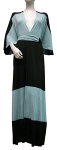 Butter by Nada Craftan Robe Top Blue Black