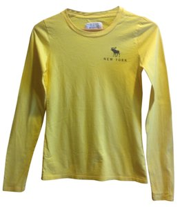 Abercrombie & Fitch Cotton Soft T Shirt Yellow