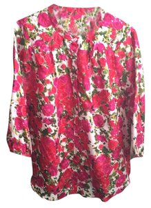 Velvet by Graham & Spencer Top Red pink floral