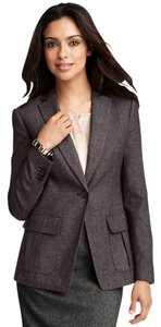 Ann Taylor Suit Jacket Grey Tweed Blazer