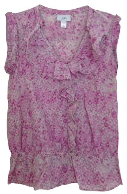 Preload https://item1.tradesy.com/images/ann-taylor-loft-pink-ruffles-sleeveless-blouse-size-4-s-123270-0-0.jpg?width=400&height=650