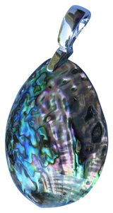 Other Abalone / Mother of Pearl Sterling Enhancer Purple Tones Nw/oT