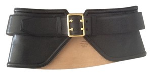 Tom Ford NEW $1399 Tom Ford Black Leather Wide Belt