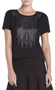 BCBGMAXAZRIA Talin Studded T Shirt BLACK
