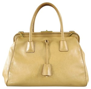 Prada Doctors Lock Unique Key Satchel in Beige