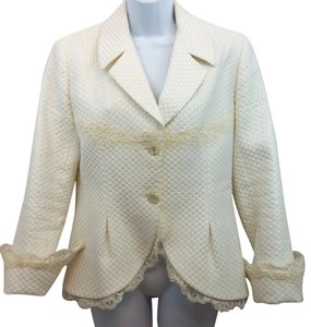 TERRY PARIS Jacket 10 WHITE Blazer