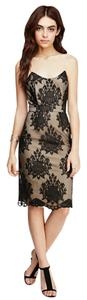 Forever 21 Damask Embroidered Mesh Fitted Date Night Dress