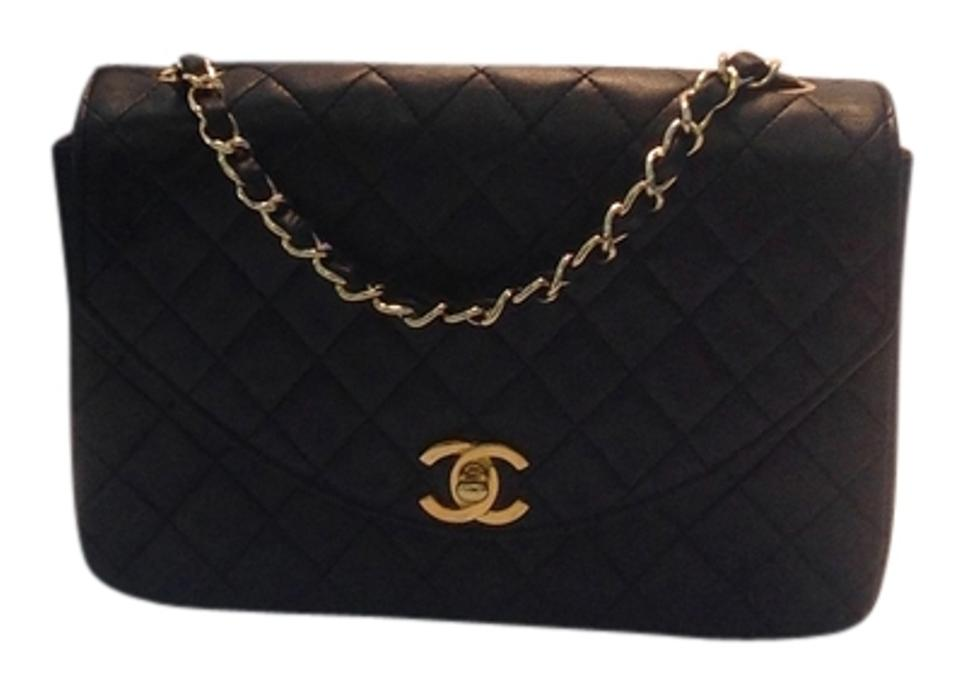 b242fe3698f3 Chanel Classic Flap Matelasse Quilted with Gold Toned Hardware Navy Lambskin  Shoulder Bag