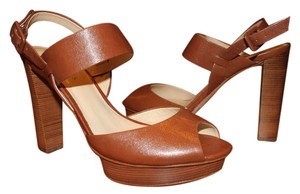 Talbots Leather Sole Leather Nutmeg Sandals