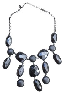 H&M Black Stone Bib Necklace