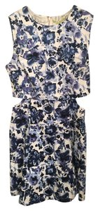 Gianni Bini short dress Blue Floral Bridal Shower Cut-out Spring on Tradesy