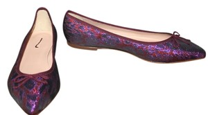J.Crew Metallic Purple Red Flats