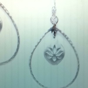 Satya Sterling Silver Lotus Teardrop Hoops