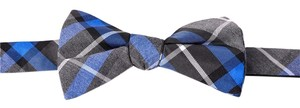 Express * Express Mens Bow Tie Blue Plaid