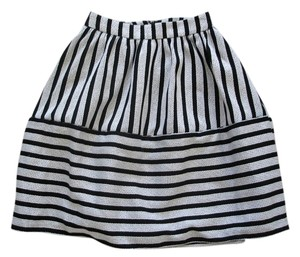 Express Winter Winter Pleated Pleated Gathered Gathered Striped Stripe Full Full Skirt grey and black