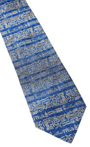 Hugo Boss Hugo Boss Blue Tribal Print Tie