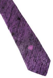 Versace * Versace Purple Black Diamond Pattern Slim Tie