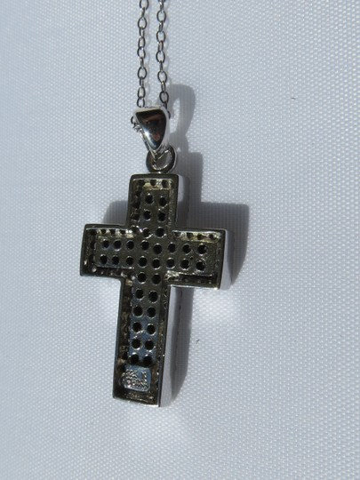 Other Sterling Silver Cross w/ Black & White CZ -- NWT! - Necklace