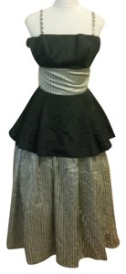 Gunne Sax Vintage Striped Gown Dress