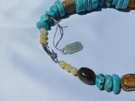 Other Chunky Turquoise, Tiger Eye and Agate Necklace - NWT