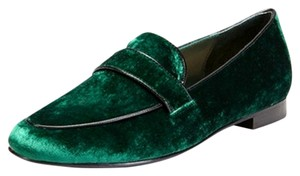 Candela Velvet Loafer green Flats