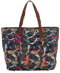 Sakroots Travel Tote Overnight Canvas River Peace Travel Bag