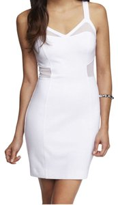 Express short dress White Mesh Panel Sheath Bodycon on Tradesy