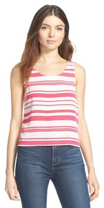 Lush Striped Top Hot Pink and Ivory