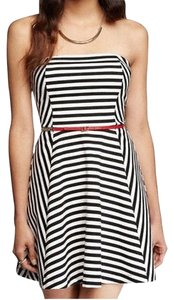 Express short dress Striped Strapless Fit And Flare on Tradesy