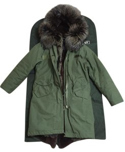 LaFURLA Parka Fur Rabbit Hoodie Fur Coat