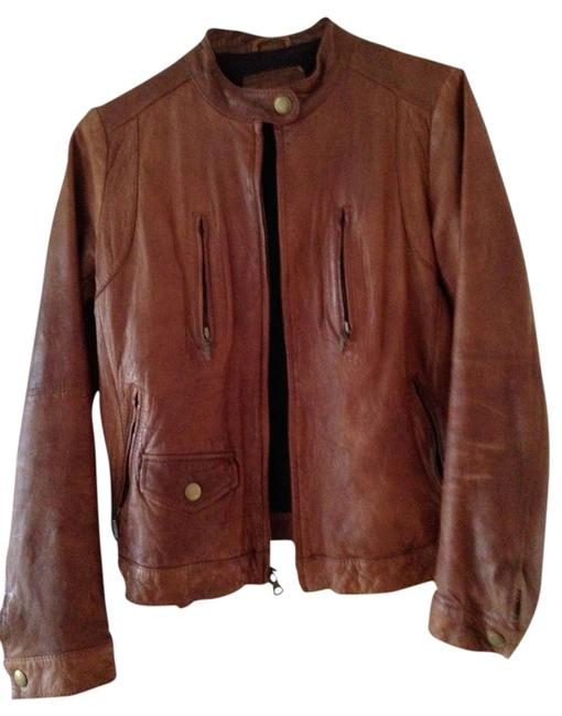 Item - Brown Leather Jacket Size 4 (S)
