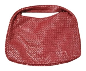 Bottega Veneta Red Woven Leather Nappa Hobo Bag