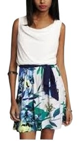 Express short dress Multi Colored Mixed Media Color-blocking Floral on Tradesy